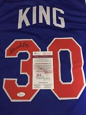 Bernard King Signed Custom Pistons Jersey (JSA Authenticated)