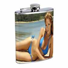 Argentina Pin Up Girls D11 Flask 8oz Stainless Steel Hip Drinking Whiskey
