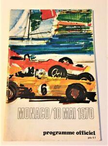 Rare 1970 MONACO GRAND PRIX Official Program - Jochen Rindt
