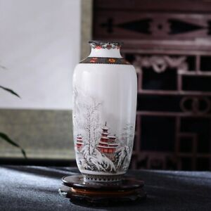 Antique Crafts Snow Flower Porcelain Vas Ceramic Vase Vintage Desk Accessories