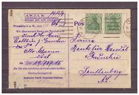 Deutsches Reich, MiNr. 85 Geldanweisung Reichsbank Frankfurt am Main 14.10.1918
