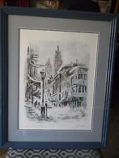 """JOHN KELLY New York """"N.Y. WINTER"""" Signed LITHOGRAPH #/200 Double Matte"""