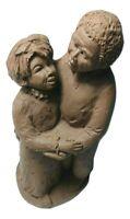 Dancing Couple Carved Figurine Pecan Shell Resin John Pleasants