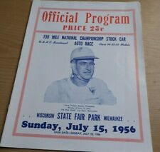 1956 AAA 150 Mile National Championship Stock Car Race Wisconsin State Fair Park