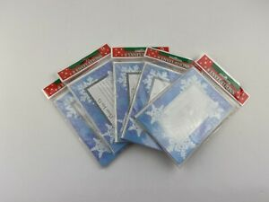 Lot Of 5 Let It Snow Christmas Holiday Party Invitations Snowflake