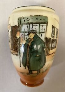 Vintage Royal Doulton Dickens Series Ware Tony Weller Noke Small Vase Height