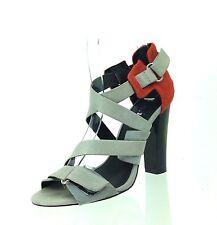 Women's Shoes L.A.M.B. KORRY Gray Orange Leather Calf Hair Heels Shoes Size 6 M