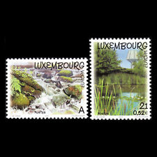 Luxembourg 2001 - EUROPA Stamps - Water, Treasure of Nature - Sc 1053/4 MNH