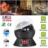 LED Baby Night Light Rotating Star Sky Projector Lamp Children Starry Lighting