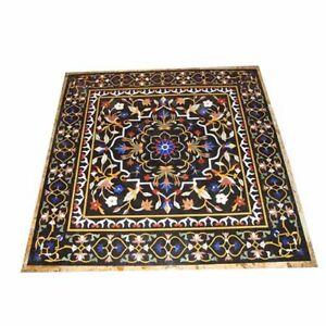 "48"" x 48"" Marble Table Top  Pietra Dura Inlay handicraft work Home Garden Decor"