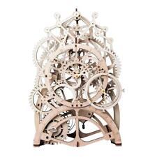 Pendulum Clock: Mechanical Gears: ROKR Moving wooden 3D Puzzle model: Age 14 plu