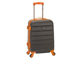 Rockland Melbourne 20 Inch Expandable Travel Abs Carry On Spinner Lock Luggage