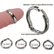 MAGNETIC Stainless Steel Ball Metal Ring Penis Cock therapy Prepuce Orthotics