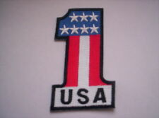 Biker Aufnäher   USA Number One  Stars and Stripes ca 8 x 5 cm