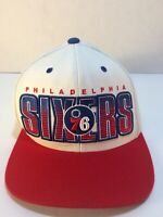 🏀Philadelphia 76ers Mitchell & Ness NBA Team Snapback Hat/Cap Red, White, Blue