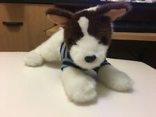 "Children's Place Terrier Puppy Dog 10"" Plush wearing Striped Shirt"