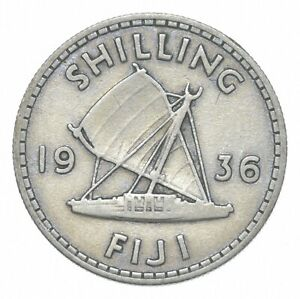 Better - 1936 Fiji 1 Shilling - TC *922