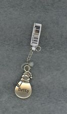Snowman Charm - Zipper Pull - Crafts - Pendant - Backpack - Personalized Betty