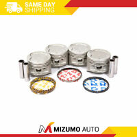 Pistons w/ Rings @STD fit 87-91 Toyota Camry Celica 2.0L DOHC 3SFE