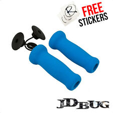 JD Bug Foam Scooter Hand Grips / Handle Bar Grips, Sky Blue