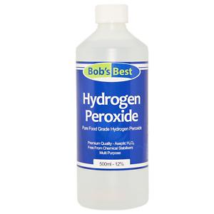 Food Grade Hydrogen Peroxide 11.99% Solution Unstabilised & Additive Free 500ml