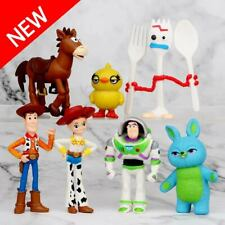 7pcs Toy Story Woody Bulleye Buzz Lightyear Action Figure Kids Toys Cake Topper