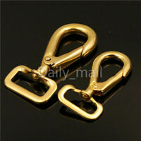 Solid Brass Snap Hook Swivel eye Bag Clasp Pet Rope Strap Clip Leather craft