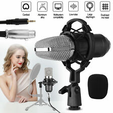 Condenser Microphone Kit Studio Pro Audio Recording Mic W/ Arm Stand Shock Mount