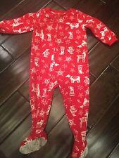 Carter's Unisex Boys/ Girls Size 18 Months Red Winter Zippered Footed Sleeper