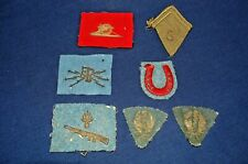Wwi Lot of French Bullion Uniform Insignia
