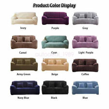 Soft Stretch Protector Furniture Cover Velvet Sofa Slipcover Living Room