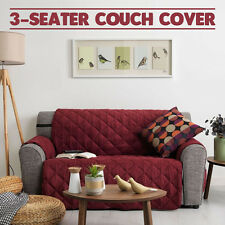 Couch Cover 3 Seater Removable Fabric Sofa Slip Throw Protector Furniture MAROON