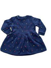 STELLA MCCARTNEY KIDS HEARTS COTTON SWEATSHIRT DRESS Age 24 months