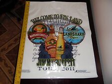 10 Jimmy Buffett Welcome to Fin Land Tour 2011 Plastic Shopping Bags NEW