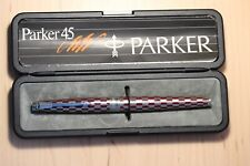 More details for rare 1981 parker 45 red shield harlequin 80 fountain pen