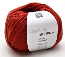 RICO ESSENTIALS MERINO DK knitting wool shade 75 clay
