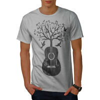 Wellcoda Guitar Music Tree Mens T-shirt, Life Graphic Design Printed Tee