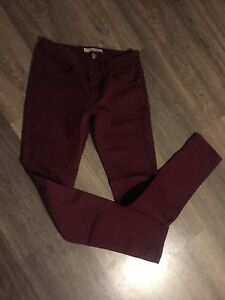 Topshop Moto Baxter Burgundy Red Trousers W28 L32