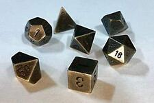 Dice Chessex Metal: Old Brass (7)