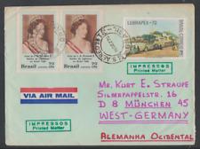 Brasilien 1970 Luftpostbrief nach Deutschland