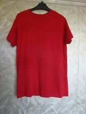 MEN'S/BOY'S RED T-SHIRT - CREW NECK - UK SMALL - CEDARWOOD STATE