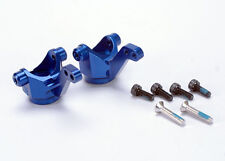 Traxxas 4336X Front Hub Carriers/Steering Blocks Blue Aluminum 4-Tec