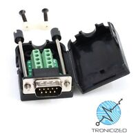 D-SUB DB9 MALE RS232 Serial Connector Breakout Board Screw Terminals JACK SCREW