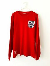 England Retro Away Shirt 1966. Medium. Umbro. Red Adults M Long Sleeves Top Only