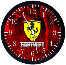 Super Car Ferrari Black Frame Wall Clock Nice For Decor or Gifts W442