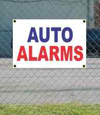 2x3 AUTO ALARMS Red White & Blue Banner Sign NEW Discount Size & Price