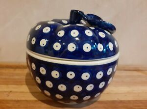 Apple Jar Handmade Polish Boleslawiec pottery