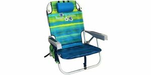 Tommy Bahama Beach Folding Chair Backpack 2016 RARE Model Blue Stripes BRAND NEW