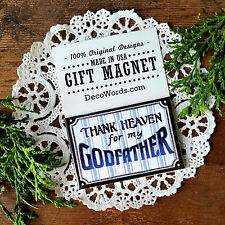 DecoWords Family Names Gift * GODFATHER MAGNET *We have ALL RELATIVES! New USA