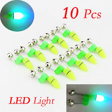 10x Night Fishing Accessory LED Light Rod Tip Fish Ring Bite Double Alarm Bells